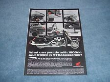 "2003 Honda VTX 1800 Motorcycle Ad ""What Can You Do With 1800cc..."""