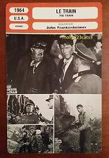 US War Movie The Train Burt Lancaster Paul Scofield French Film Trade Card