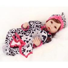 Reborn Baby Dolls 22'' Vinyl Silicone Realistic Newborn Girl Handmade +Clothes