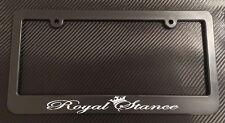 Royal Stance Crown - License Plate Frame Black - Choose Color! jdm euro static