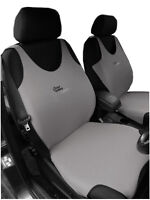 2 GREY FRONT VEST CAR SEAT COVERS PROTECTORS FOR FIAT 500L