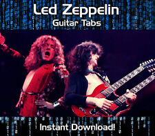 LED ZEPPELIN ROCK GUITAR TAB TABLATURE DOWNLOAD SONG BOOK SOFTWARE TUITION