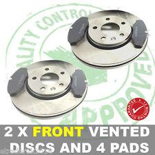 Vauxhall Vivaro Van ANTERIORE VENTILATO Dischi Freno x 2 & Pads x 4 NUOVI TUTTI I MODELLI 01-13