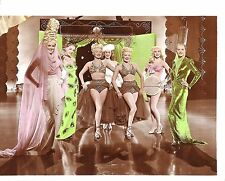 """BETTY GRABLE & JUNE HAVER in """"The Dolly Sisters"""" Original Colored Photo 1945"""