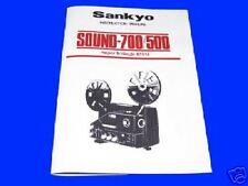 SANKYO SOUND 700 & 500 8mm Cine Projector Instruction Book