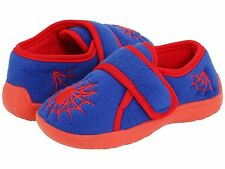 Little Boys Blue and Red Slippers with fun Spider Webs Little Boys size 5