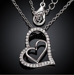 ❤️ Heart Necklace Pendant Anchor Chain Women's Gifts for Women ❤️