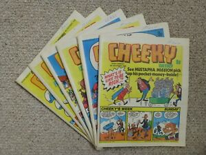 Cheeky Comic x 6 – November/December 1978 issues - Near Mint Condition