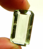 13.25 Ct Natural Green Amethyst Loose Emerald Cut Gemstone Stone - 13504