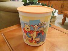 TUPPERWARE DISNEY Winnie the Pooh CANISTER vintage look 5.5L 5.5 Liter 23 cup