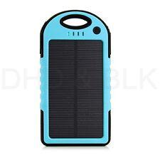 5000mah Dual-USB Impermeable Solar Batería externa cargador de Batería para