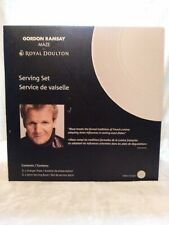 Royal Doulton MAZE Grey Serving Set Bowl & Round Platter by Gordon Ramsay NEW