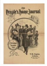 VINTAGE 1895 PEOPLE'S HOME JOURNAL CHRISTMAS SHOPPERS VICTORIAN AD PRINT #B363