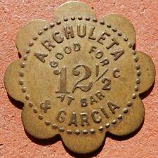 PAGOSA SPRINGS Colorado TOKEN ⚜️ Archuleta & Garcia (SALOON)