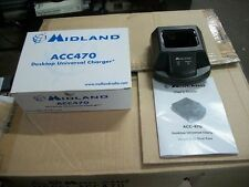 (LOT OF 12) Midland Radio ACC-470 Univ Charger NEW- W/O POWER CORD P-25 SYS 1