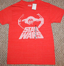 New! Mens Star Wars Shirt (Retro Battle Space Ship; Red)- Small S