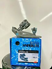 New listing Hyperlite System Low Back Wakeboard Bindings Black Grey Gray L/Xl 10-13