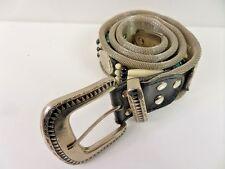 """Vintage Unisex de malla de metal y cuentas Cinturón Plata Talla 27"""" 70cm grado a BA251"""