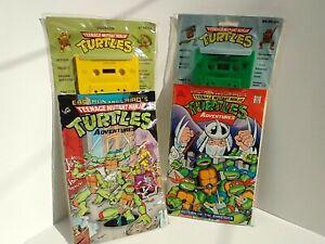 Teenage Mutant Ninja Turtle Comic Book and Cassette Tape 1990 sealed set of 2