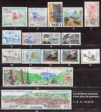 Lot de 16 timbres neufs SAINT PIERRE ET MIQUELON 1990 à 1993 cotés 30 euros
