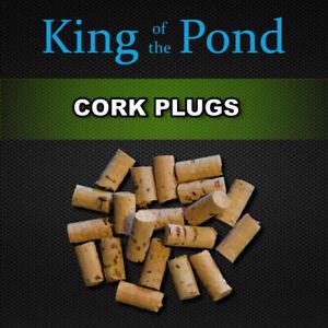 Cork pop up plugs 6mm dia x20 pcs - carp fishing, carp rigs