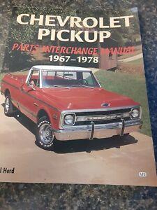 1999 Paul Herd Chevrolet Pickup Truck Parts Interchange Manual 1967-1978