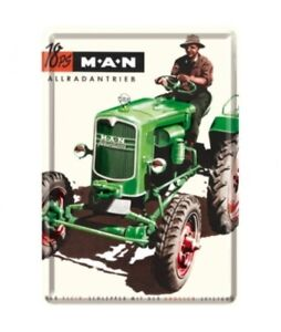 Blechpostkarte M.A.N. Allradbetrieb Traktor Schlepper  (NEU & OVP)