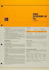 Kodak Ektachrome 400l Film - Kodak Datenblatt P-B 6