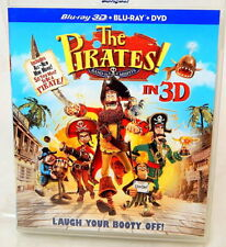 2I BLU-RAY THE PIRATES! With Blu Ray 3D And DVD 3 Discs!