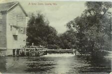 C.1900-09 Mill and Dam River, Sparta, Wis. Vintage Postcard P99