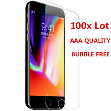 Bulk 100x Lot Tempered Glass Screen Protector for iPhone 12 11 XS MAX 6s SE 7 8+
