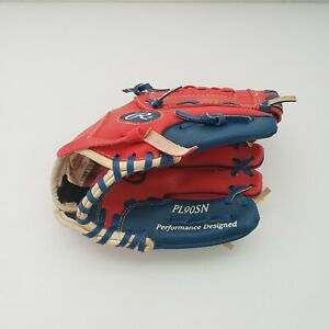 Rawlings Tee Ball Baseball Glove PL90SN Players Series 9 in Red Right Hand Throw
