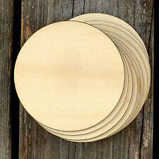 10x Wooden Plain Round Circles Craft Shapes 3mm Plywood