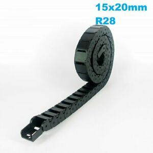 15x20mm R28 Nylon Energy Drag Chain Cable Wire Carrier CNC Router 3D Printer Mil