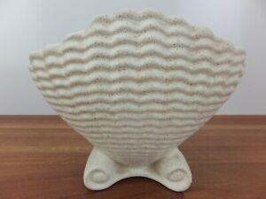 Vintage RAYNHAM Clam Shell Scalloped Vase Cream