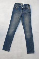 SIVIGLIA Jeans Denim Blu Chiaro Pantaloni ITALIA SLIM STRETCH W24 UK6 SUPER scolorito