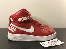 Nike Air Force 1 HIGH SP SUPREME RED FW 14 SIZE 8.5 100% AUTHENTIC