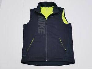 Nike Therma Sphere Max Running Training Vest Black Volt Men's LARGE 807763-010