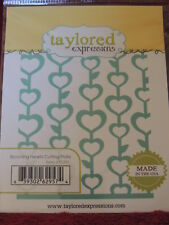 NEW TAYLORED EXPRESSIONS BLOOMING HEARTS CUTTING PLATE TE291 BACKGROUND
