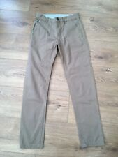 Boys Dark Beige Tan  Chino Canvas Style Trousers Age 9-10 Years