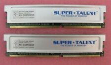 Lot of 2 Super Talent PC3200 512MB DDR400 CL2.5 Memory P/N: D32PB12C25
