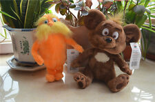 Set of 2 Dr.Seuss The Lorax & Bar-Ba-Loots Bear Kid's Gift Plush Toy 9""