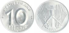 10 Pfennig DDR 1953 E seltenes Jahr / Münzzeichen  prägefrisch-Stempelglanz (3)