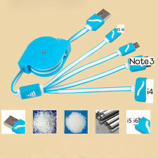 Retractable Phone Connector Line 4 In 1 Charger Cable Charging Cord Multiple E11