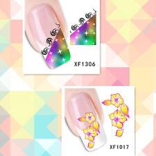 2Sheet/New Fashion Trend Beautifully Beautiful DIY Nail Stickers XF1306+1017