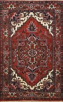Geometric RUST IVORY Hand-Knotted Traditional Oriental Area Rug Wool Carpet 4x6