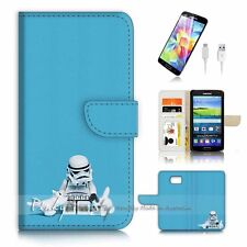 ( For Samsung S7 ) Wallet Case Cover P3147 Starwars Soldier