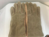 Mens Cow Split Leather Winter Acrylic Pile Fleece Lined Soft  Gloves Medium