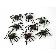 Paquet Effrayant Araignées X 8 Noir Spider Halloween Déguisement Fête Décoration