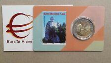 N 2 stamp coincard 2 euro San Marino 2018 saint marin Сан Марино francobollo 1 €